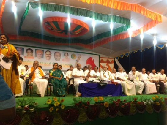 at Dharampuram in Tamilnadu attended Kisan Sammelan 2