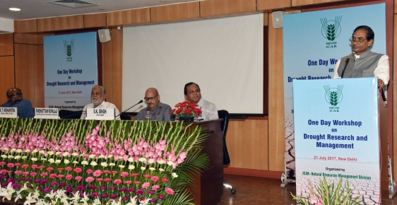 Addressed one day Workshop on Drought Research and Management organized by ICAR 2