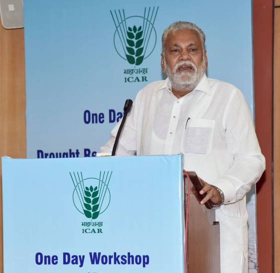 Addressed one day Workshop on Drought Research and Management organized by ICAR 3