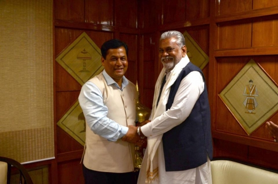 Met with met Hon\'ble CM of Assam Sh Sarbananda Sonowal ji